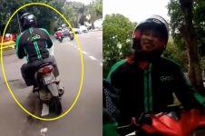 Kisah driver ojek online lupa bawa penumpangnya, videonya kocak