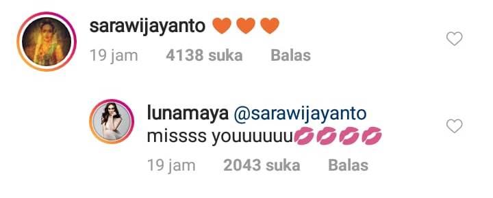sambutan untuk Luna instagram