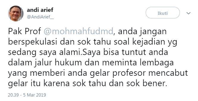 cuitan baru Andi Arief  © 2019 brilio.net