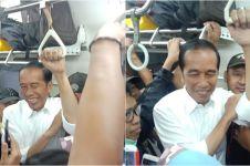 10 Potret Jokowi tiba-tiba nongol di KRL Jakarta-Bogor, heboh!