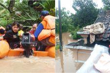 10 Potret mengerikan banjir Madiun, hingga rendam badan tol