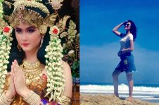 7 Pesona Talitha Curtis, pemeran Nyi Roro Kidul saat main di pantai