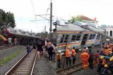 5 Fakta terbaru KRL Jakarta-Bogor anjlok & menabrak tiang listrik