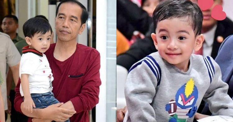 8 Potret Jan Ethes cucu Jokowi pakai kain etnik, polahnya gemesin