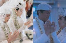 10 Momen haru akad nikah Syahrini-Reino dengan adat Sunda di Jepang