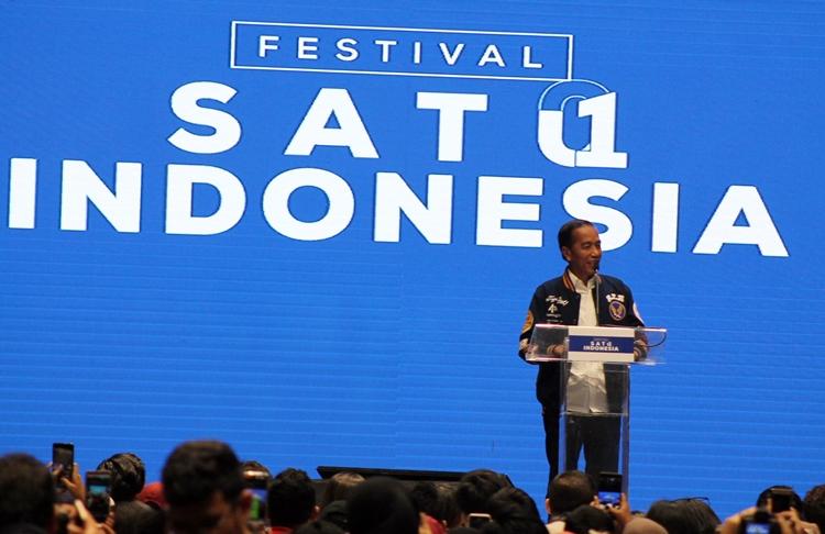 Di Festival Satu Indonesia, Jokowi tantang milenial jawab decacorn