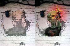 12 Ilustrasi dari tembok rusak ini bikin rumah makin berwarna