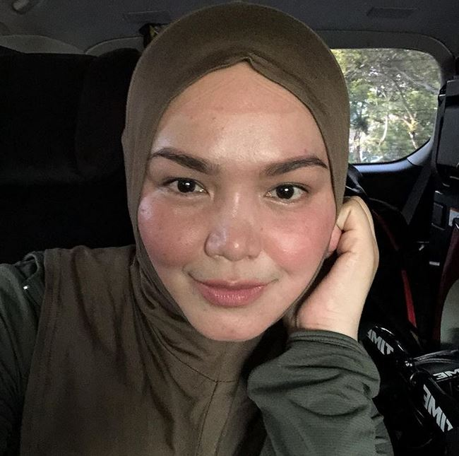 siti nurhaliza tanpa makeup instagram