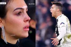 Tangis haru Georgina Rodriguez saat Ronaldo cetak hattrick