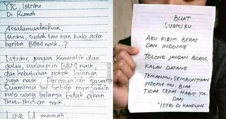 10 Surat cinta suami-istri ini endingnya bikin ketawa