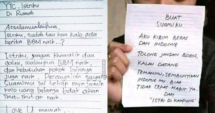 10 Surat Cinta Suami Istri Ini Endingnya Bikin Ketawa