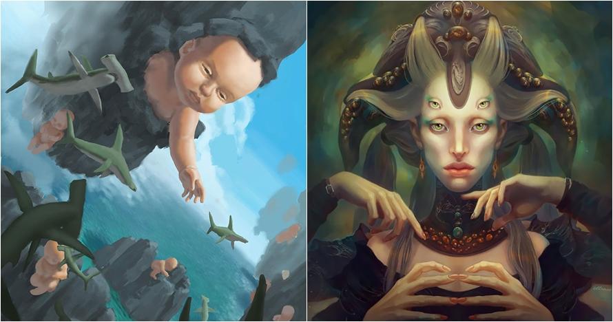 12 Lukisan ini gambarkan apa yang biasa terlihat di alam mimpi