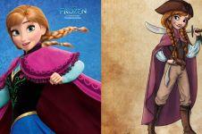 8 Ilustrasi Putri Disney jadi bajak laut ini bikin pangling