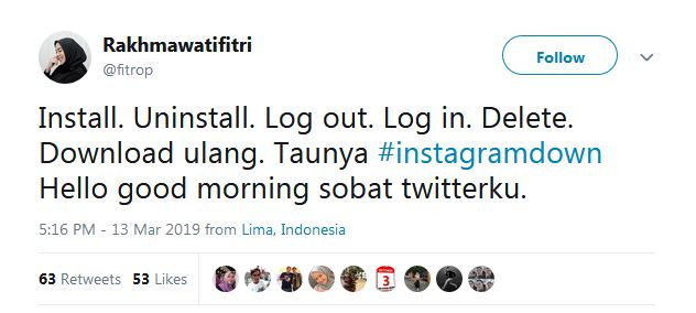 Instagram Down istimewa
