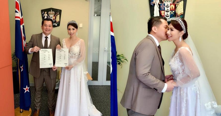 10 Potret pernikahan Femmy Permatasari & suami di Selandia Baru