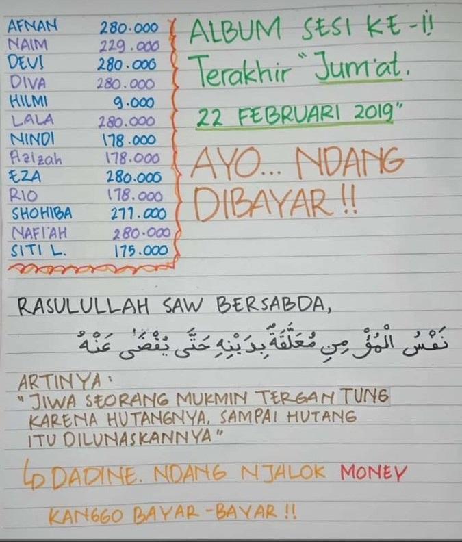 cara bendahara nagih uang kelas © Twitter