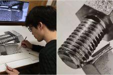 10 Sketsa 3D ini kerennya bikin melongo, mirip benda aslinya