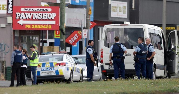 Detik-detik penangkapan tersangka penembakan di Selandia Baru
