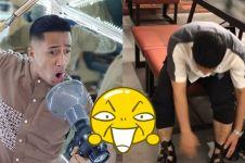 Unggah video di toko sepatu, aksi Irfan Hakim bikin ngakak