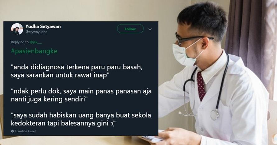 10 Cuitan lucu 'pasien bangke' ini kocaknya bikin ketawa ngakak