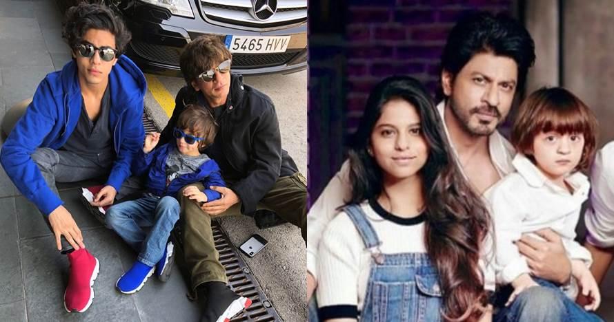 Jadi hot papa, ini 9 momen intim Shah Rukh Khan & ketiga anaknya