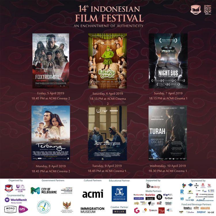 14th Indonesian Film Festival digelar di Melbourne, ini daftar filmnya