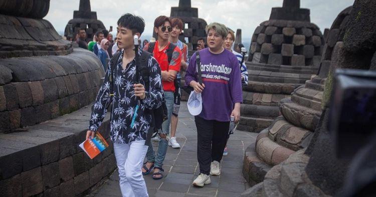 Berkunjung ke Magelang, ini momen Super Junior & TVXQ di Borobudur