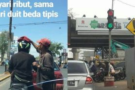 12 Momen absurd di lampu merah ini bikin pengen ketawa
