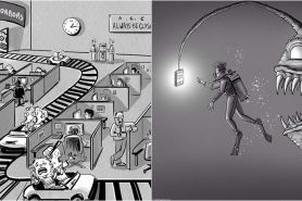 12 Ilustrasi ironi kehidupan masa kini, bikin senyum kecut