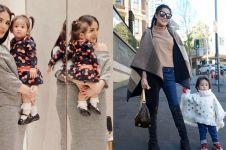 Masuk fashionable moms, ini 10 gaya kece Nindy Ayunda bareng anak