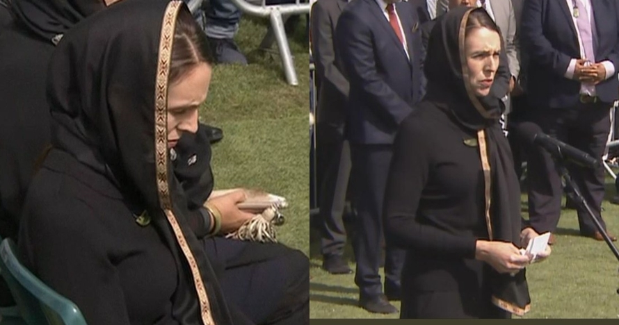 7 Potret PM Jacinda Ardern hadiri salat Jumat di Christchurch