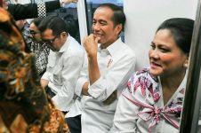 10 Foto Jokowi jajal MRT, tatapan Chelsea Islan bikin gagal fokus