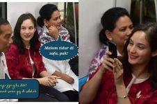 7 Reaksi lucu imajiner Iriana saat Jokowi ditatap Chelsea Islan