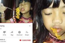 Video makan samyangnya hoaks, bocah ini berani minta maaf