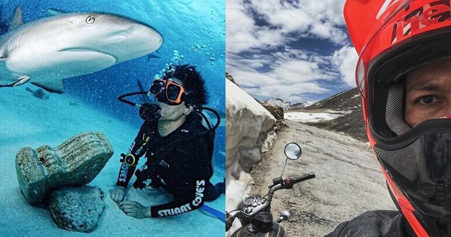 8 Aktivitas ekstrem Chef Juna, menyelam sampai motoran di Himalaya