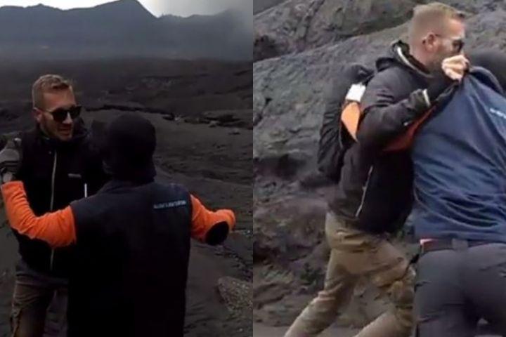 Ngotot masuk ke Gunung Bromo, turis ini kelahi dengan petugas