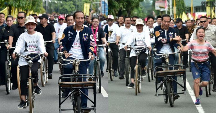 10 Momen Jokowi di Jogja, ngontel dan nyanyi bareng God Bless