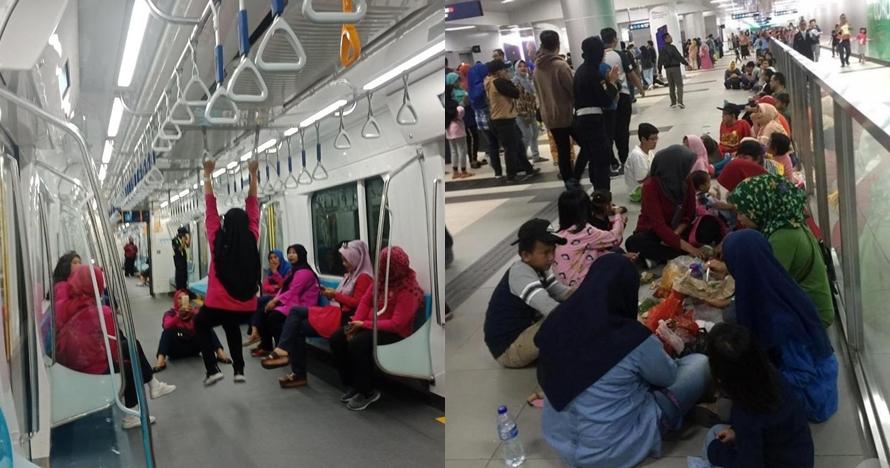5 Potret penumpang saat uji coba MRT ini bikin miris