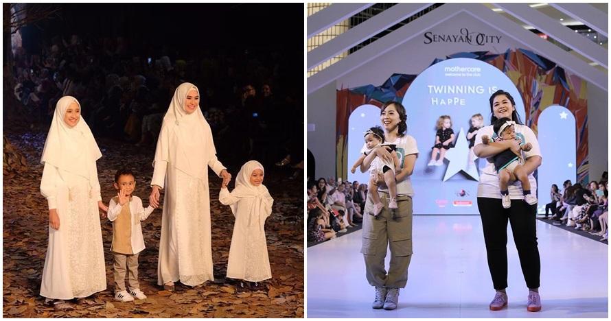 5 Seleb ini ajak anak tampil fashion show, aksinya bikin gemes