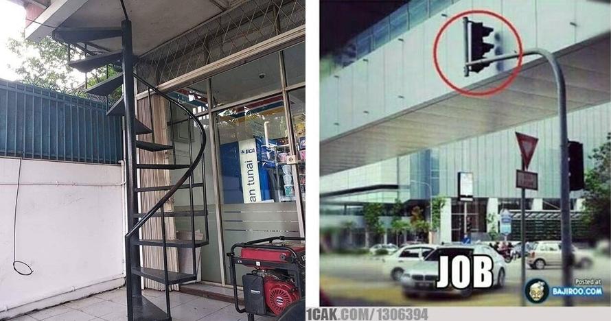 11 Desain bangunan di tempat umum ini bikin auto gagal paham