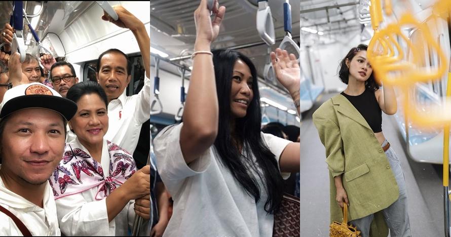 Komentar 9 seleb usai coba MRT Jakarta, bikin pengen ikutan naik