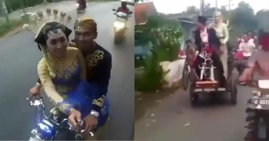 12 Kendaraan pengantin low budget ini unik dan tetap romantis