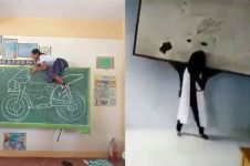 12 Ide kreatif siswa pakai papan tulis ini bikin tersenyum geli