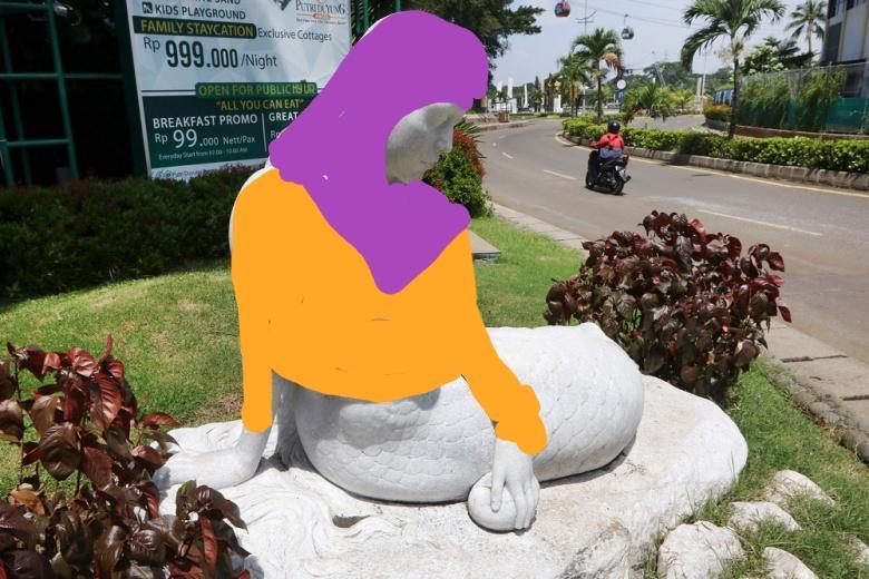 meme patung duyung © berbagai sumber