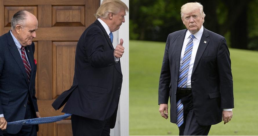 12 Foto editan Donald Trump pakai dasi panjang ini bikin gagal fokus