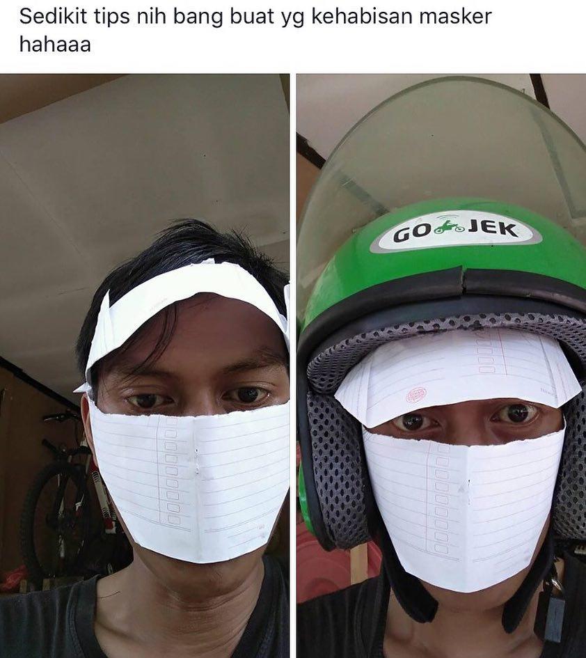 kelakuan pakai masker © 2019 brilio.net