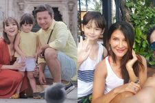 Sudah bercerai, 4 pasangan seleb ini kompak liburan bareng anak