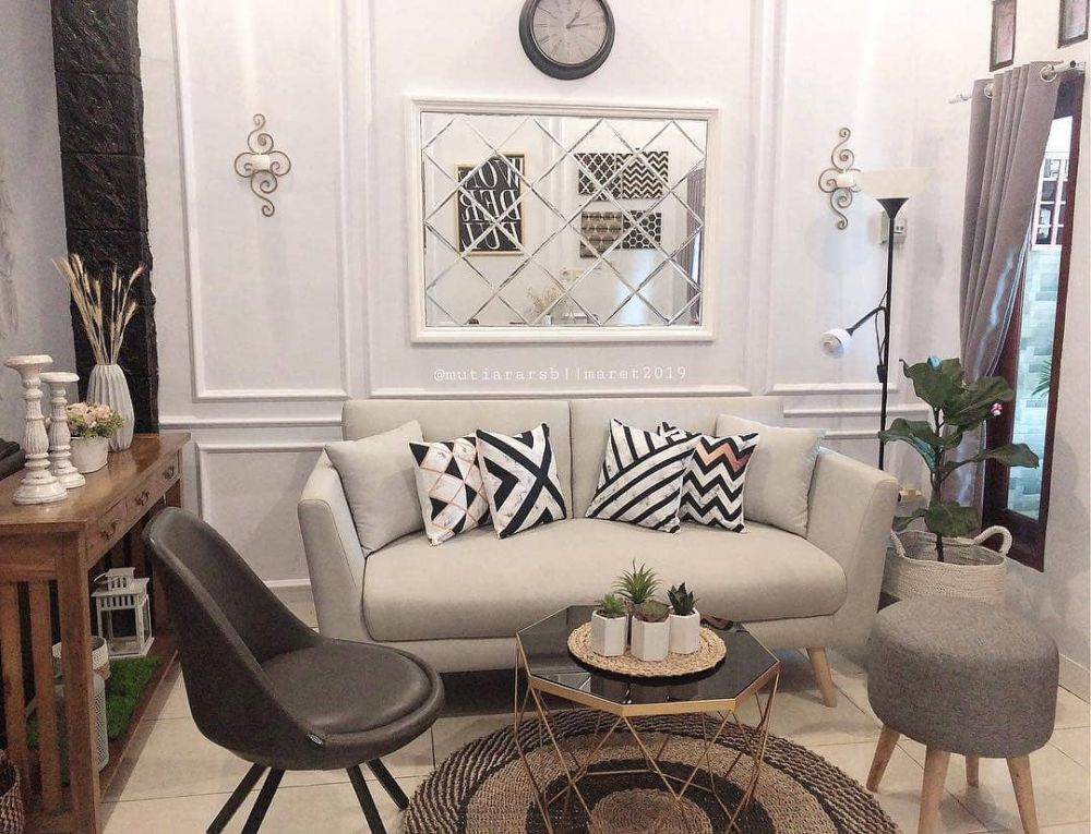 ruang keluarga minimalis instagram