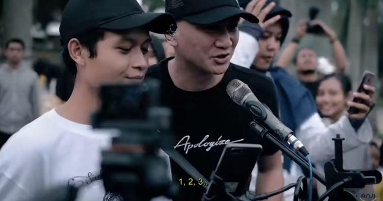 Anji sidak musisi jalanan di Malang, nyanyi bareng dan sawer Rp 1 juta