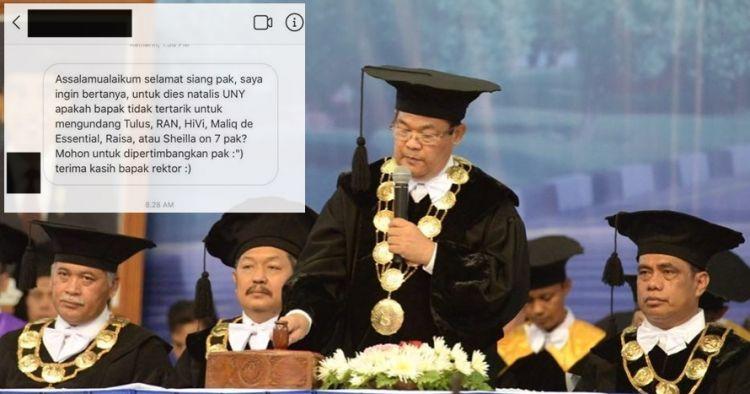 Diminta undang penyanyi top ke kampus, jawaban rektor ini kocak